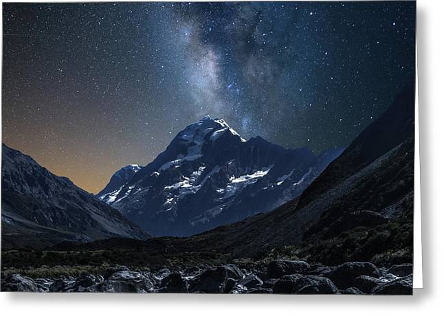 Mount Cook At Night Greeting Card by Martin Capek