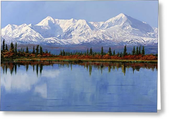 mount Denali in Alaska Greeting Card