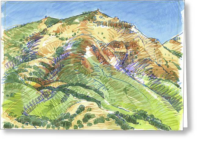 Mount Diablo From Curry Valley Ridge Greeting Card