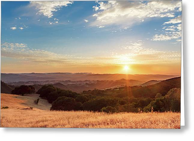 Mount Diablo Sunset Greeting Card