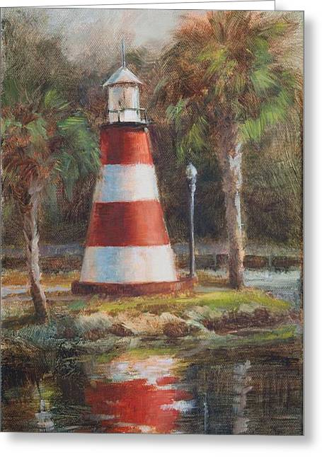 Mount Dora Lighthouse Greeting Card by Tracie Thompson