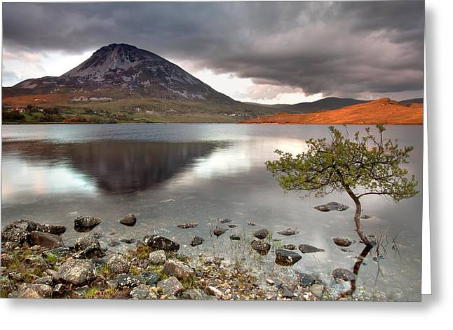 Mount Errigal Greeting Card by Pawel Klarecki