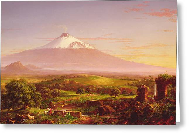 Mount Etna Greeting Card by Thomas Cole