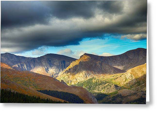 Mount Evans Foreboding Skies Greeting Card