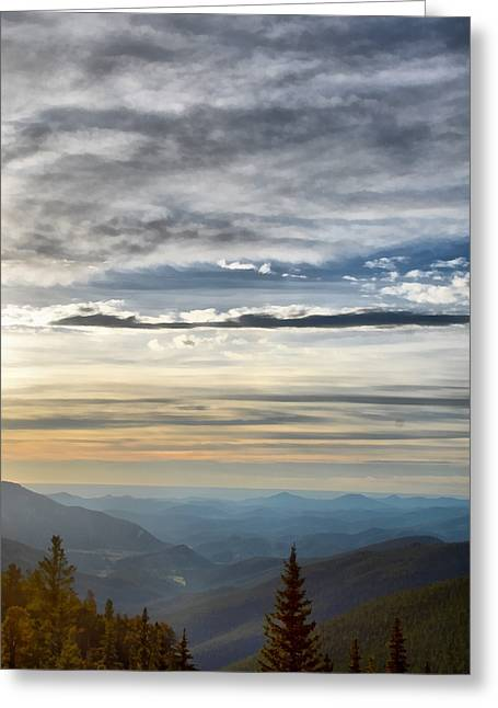 Mount Evans Painterly 1 Greeting Card by Angelina Vick