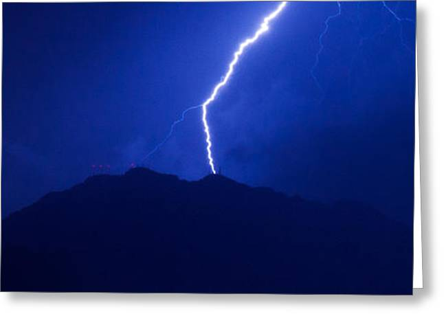 Mount Franklin Lightning Greeting Card