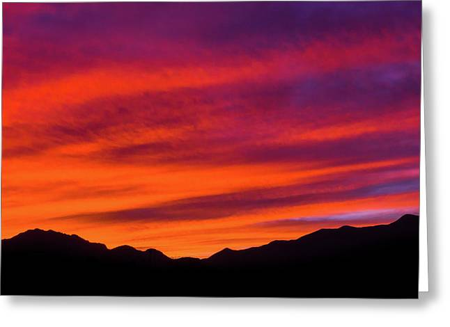 Mount Franklin Purple Sunset Greeting Card