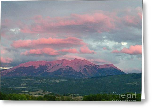 Mount Gunnison Sunset In Colorado Greeting Card