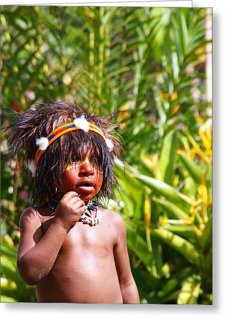 Mount Hagen Papua New Guinea Aog 91 Greeting Card by Per Lidvall