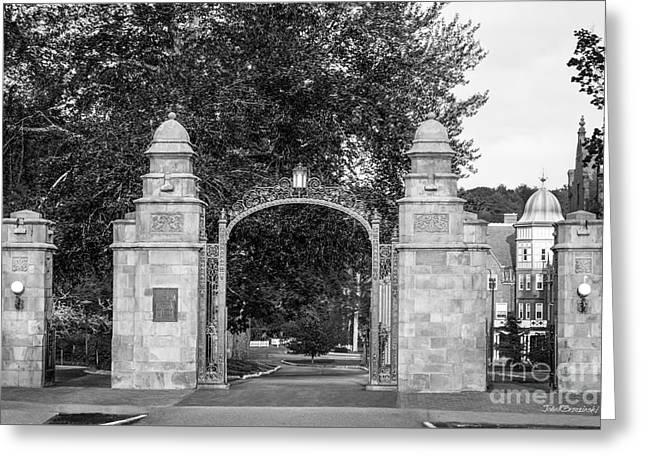 Mount Holyoke College Field Gate Greeting Card by University Icons
