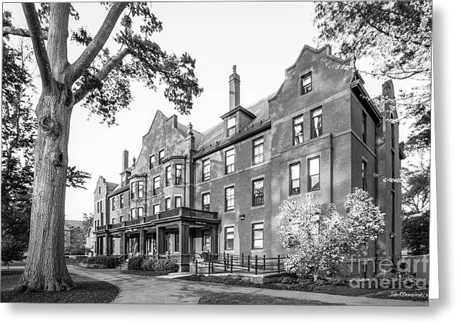 Mount Holyoke College Wilder Hall Greeting Card by University Icons