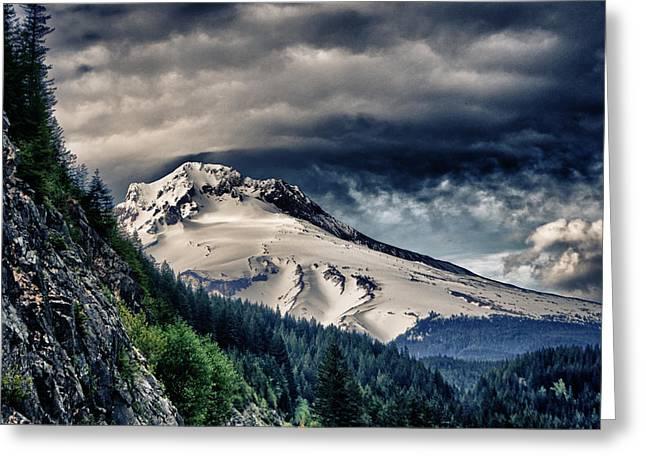 Mount Hood Dynamic Greeting Card by John Winner