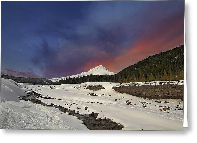Mount Hood Winter Wonderland Greeting Card