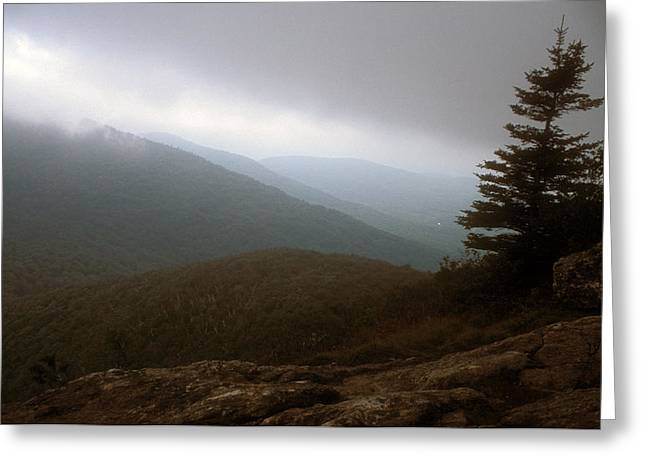 Mount Horrid Cliff Storm Greeting Card by John Burk