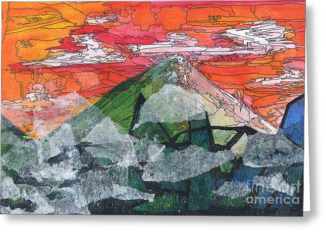 Mount Improbable Greeting Card by Jessica Browne-White