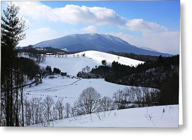 Mount Jefferson Winter Greeting Card by Dale R Carlson