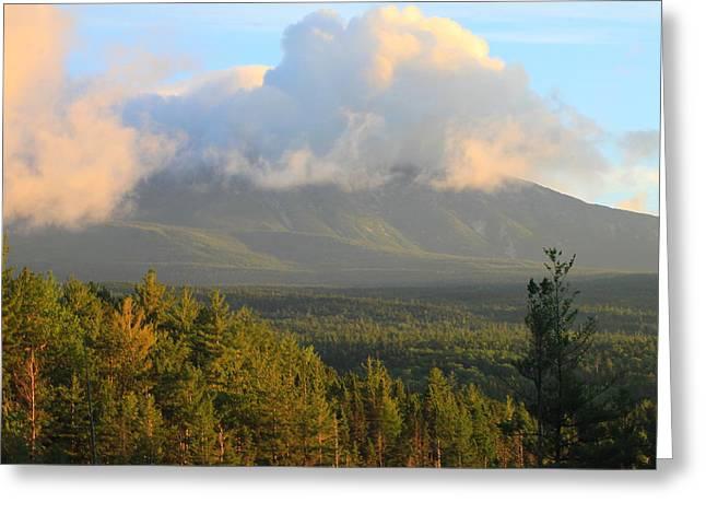 Mount Katahdin Morning Greeting Card by John Burk