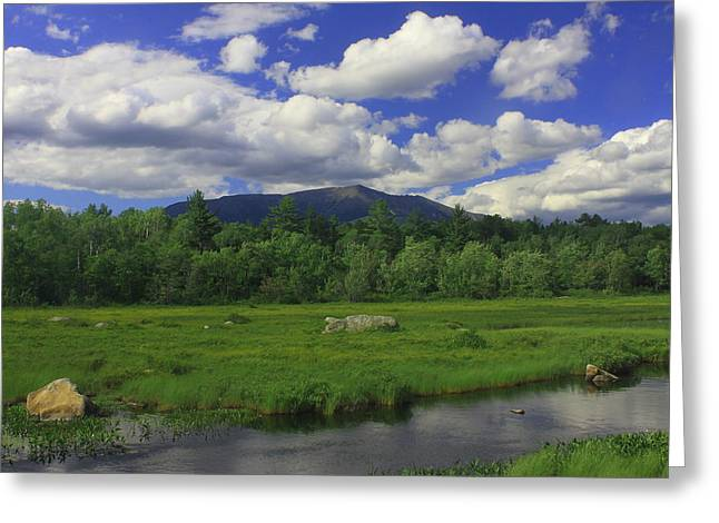 Mount Katahdin Summer Greeting Card by John Burk