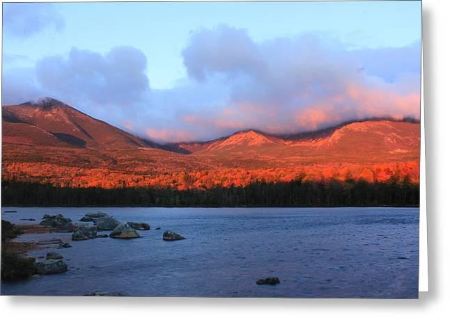 Mount Katahdin Sunrise Greeting Card by John Burk