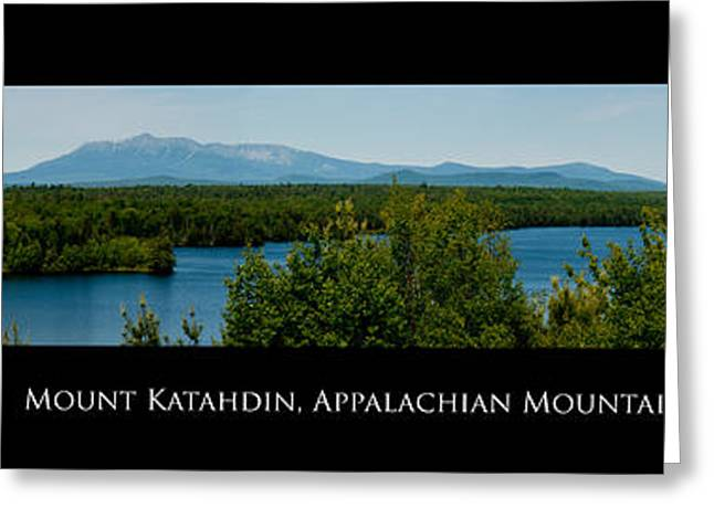 Baxter Park Greeting Cards - Mount Katahdin Greeting Card by Venura Herath