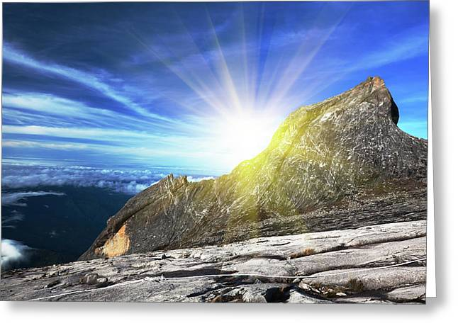 Height Greeting Cards - Mount Kinabalu Greeting Card by MotHaiBaPhoto Prints