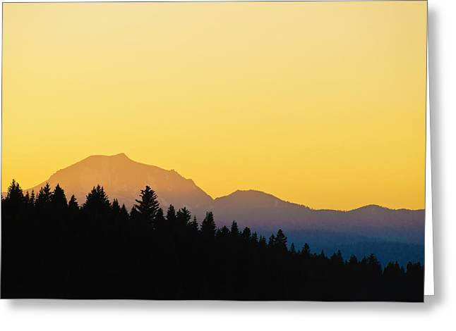 Greeting Card featuring the photograph Mount Lassen At Sunset by Sherri Meyer