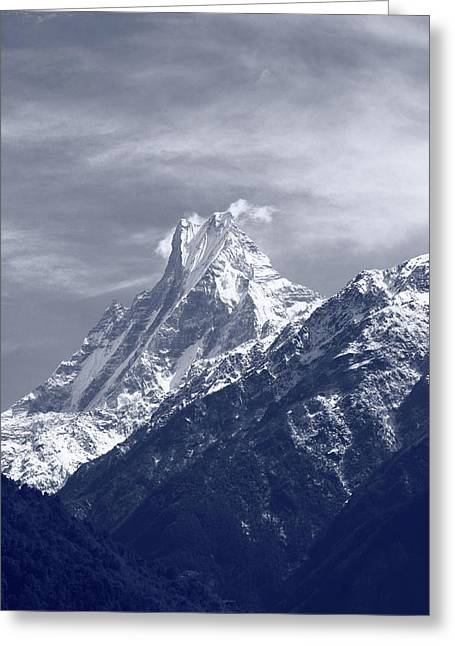 Mount Machapuchare, The Himalayas, Nepal Greeting Card