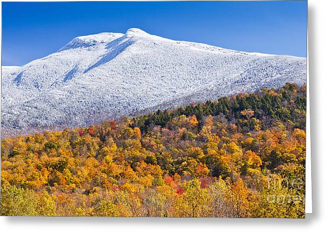 Mount Mansfield Seasonal Transition Greeting Card