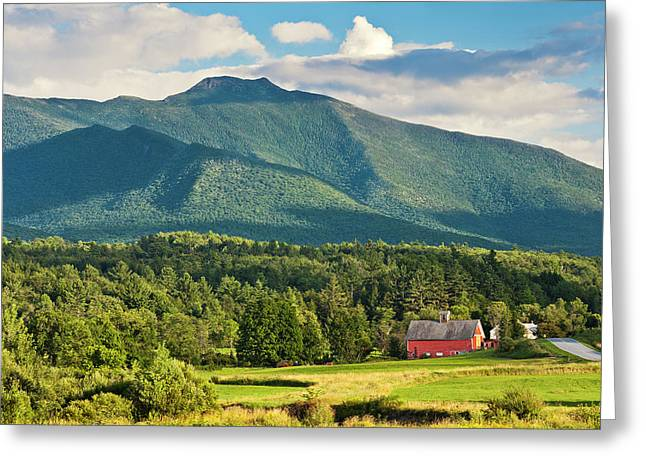 Mount Mansfield Summer View Greeting Card