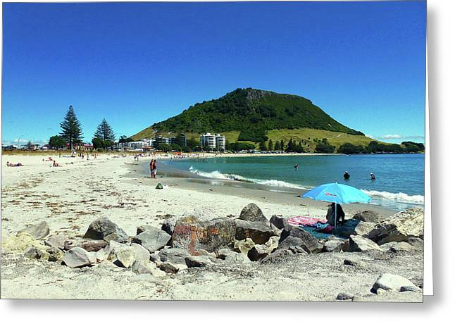 Mount Maunganui Beach 1 - Tauranga New Zealand Greeting Card