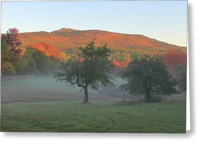 Mount Monadnock Autumn Morning Greeting Card