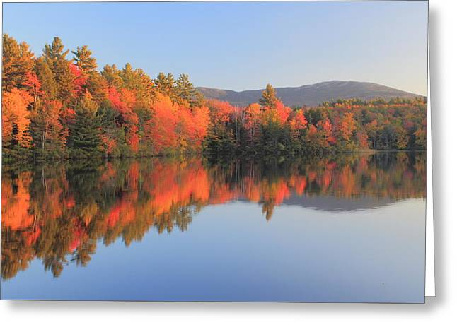Mount Monadnock Early Autumn Reflections Greeting Card