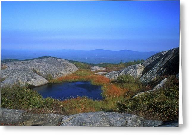 Mount Monadnock Summit Pond Greeting Card
