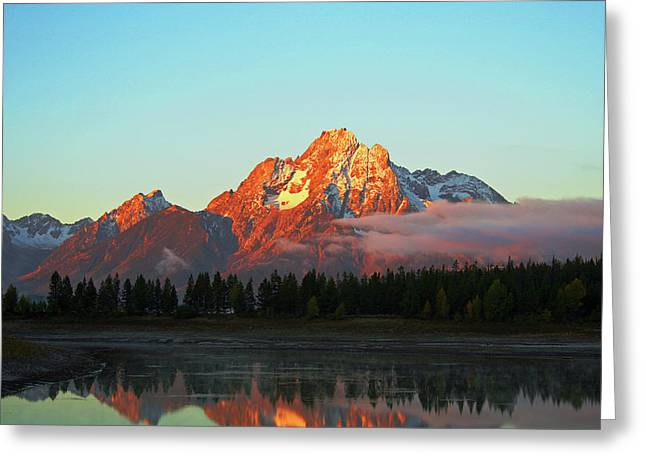 Mount Moran Aglow Greeting Card by Brent Parks