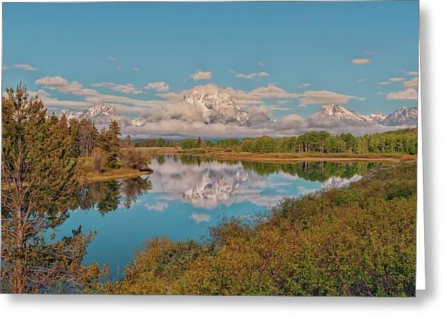 Mount Moran On Oxbow Bend Greeting Card
