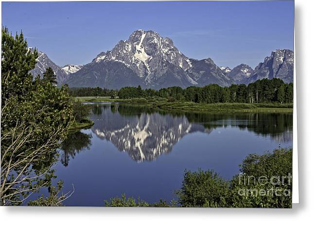 Mount Moran Reflections Greeting Card by Tim Moore
