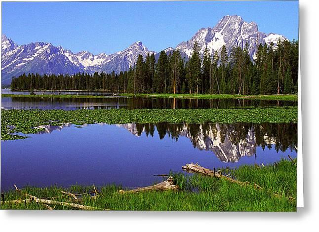 Mount Moran Tetons Nat'l Park Greeting Card by Alan Lenk