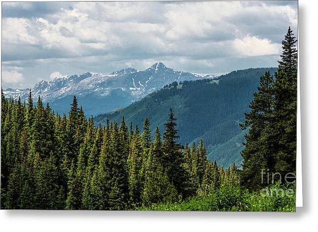 Mount Of The Holy Cross Greeting Card by Jon Burch Photography