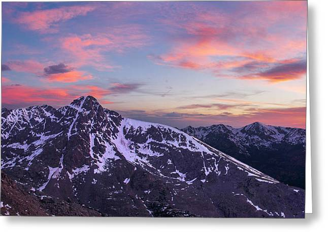 Mount Of The Holy Cross Panorama Greeting Card by Aaron Spong