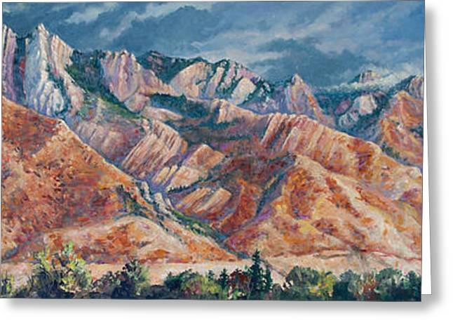 Mount Olympus In Autumn  Greeting Card