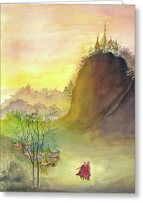Mount Popa Greeting Card