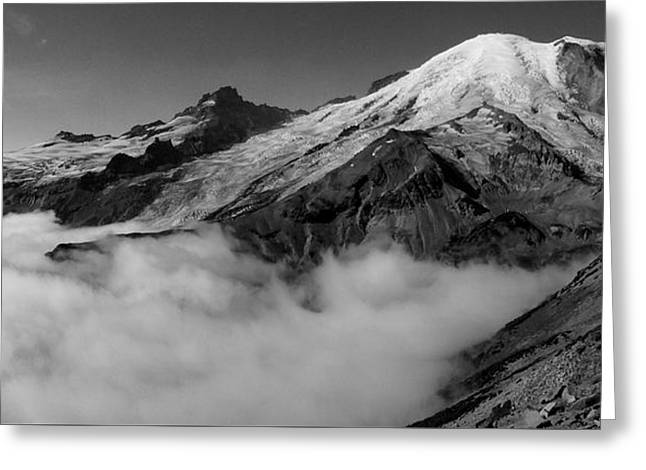 Mount Rainier Above The Clouds Greeting Card by Ryan Scholl