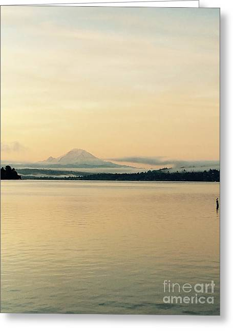 Mount Rainier In The Morning Greeting Card