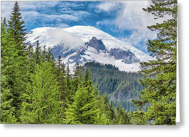 Greeting Card featuring the photograph Mount Rainier View by Stephen Stookey