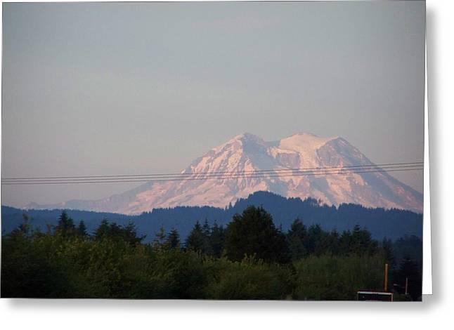 Mount Rainier Washington  Greeting Card by Laurie Kidd