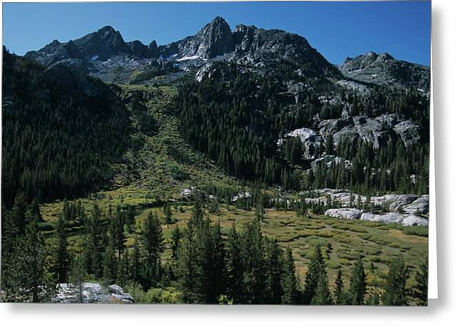 Mount Ritter Shadow Creek And Granite Rocks Greeting Card