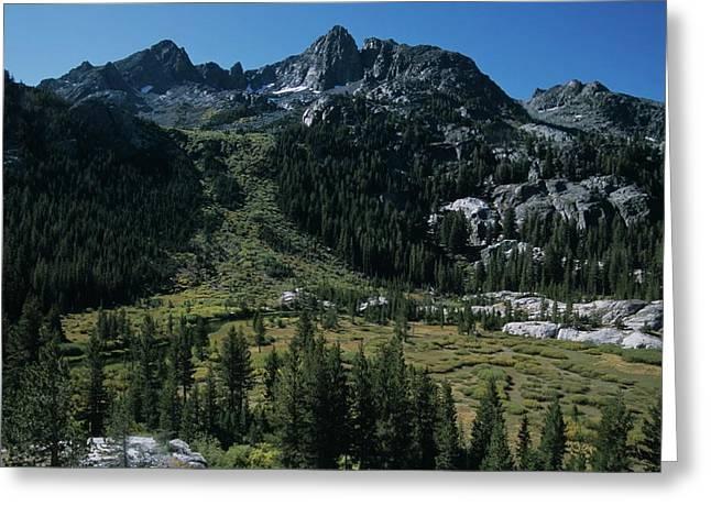 Mount Ritter Shadow Creek And Granite Rocks Greeting Card