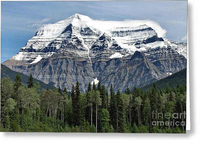 Greeting Card featuring the photograph Mount Robson British Columbia by Elaine Manley