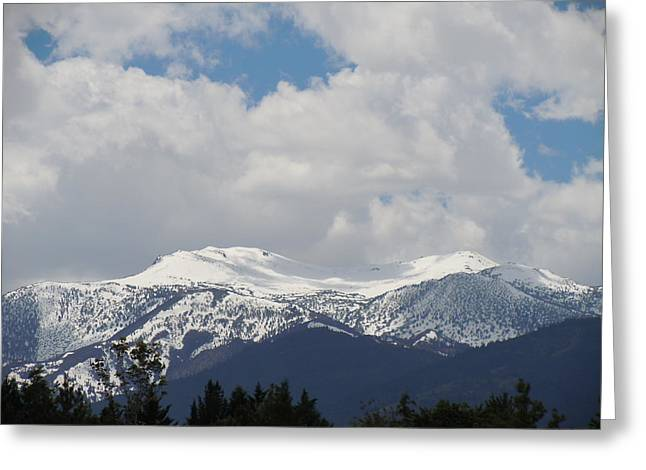 Mount Rose Reno Nevada Greeting Card