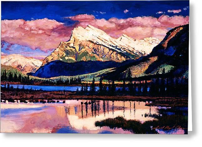 Mount Rundle Greeting Card by David Lloyd Glover